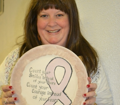 Cancer Connect Painted Plate