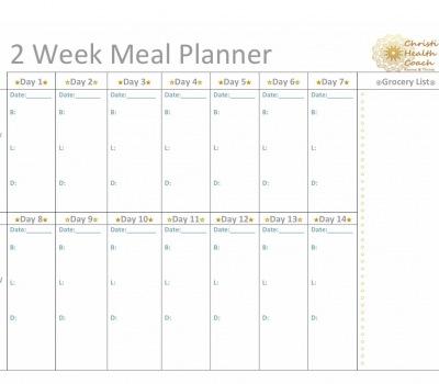 2 Week Meal Planner